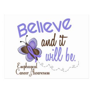 Esophageal Cancer Butterfly 2 Believe & It Will Be Postcard