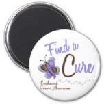 Esophageal Cancer Butterfly 2 Find A Cure 2 Inch Round Magnet