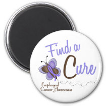 Esophageal Cancer Butterfly 2 Find A Cure Magnet