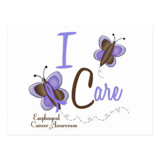Esophageal Cancer Butterfly 2 I Care Postcard