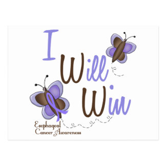 Esophageal Cancer Butterfly 2 I Will Win Postcard
