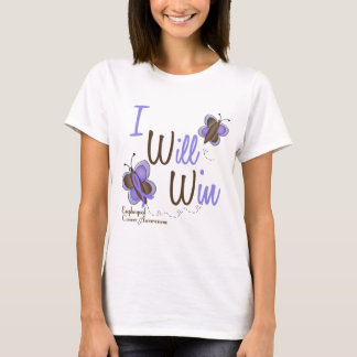 Esophageal Cancer Butterfly 2 I Will Win T-Shirt
