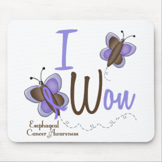 Esophageal Cancer Butterfly 2 I Won Mouse Pad