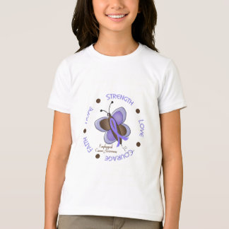 Esophageal Cancer Butterfly 2 Inspirational Circle T-Shirt