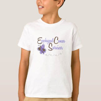 Esophageal Cancer Butterfly 2 Survivor T-Shirt
