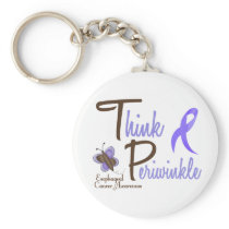 Esophageal Cancer Butterfly 2 Think Periwinkle Keychain