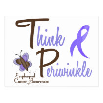 Esophageal Cancer Butterfly 2 Think Periwinkle Postcard