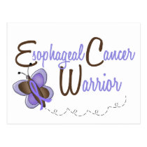 Esophageal Cancer Butterfly 2 Warrior Postcard