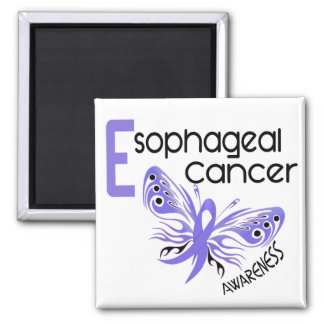 Esophageal Cancer BUTTERFLY 3.1 2 Inch Square Magnet