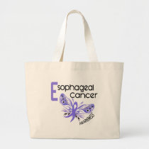 Esophageal Cancer BUTTERFLY 3.1 Large Tote Bag