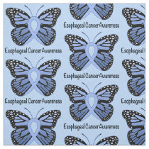 Esophageal Cancer Butterfly Awareness Ribbon Fabric
