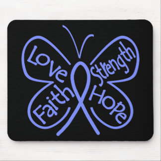 Esophageal Cancer Butterfly Inspiring Words Mouse Pad