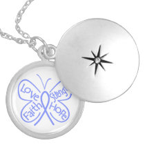 Esophageal Cancer Butterfly Inspiring Words Custom Necklace