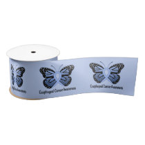 """Esophageal Cancer Butterfly of Hope 3"""" Satin Ribbon"""