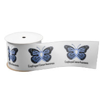 "Esophageal Cancer Butterfly of Hope 3"" Satin Ribbon"