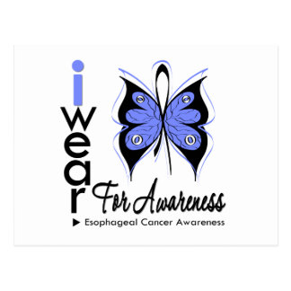 Esophageal Cancer Butterfly Ribbon AWARENESS Post Cards