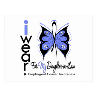 Esophageal Cancer Butterfly Ribbon DAUGHTER in LAW Postcard