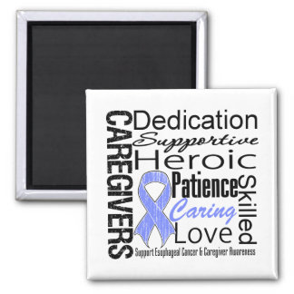Esophageal Cancer Caregivers Collage 2 Inch Square Magnet