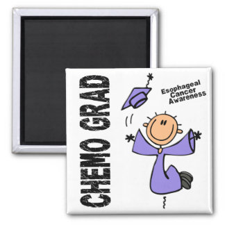Esophageal Cancer CHEMO GRAD 1 2 Inch Square Magnet