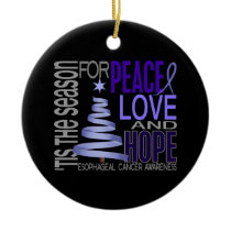 Esophageal Cancer Christmas 1 Ornaments