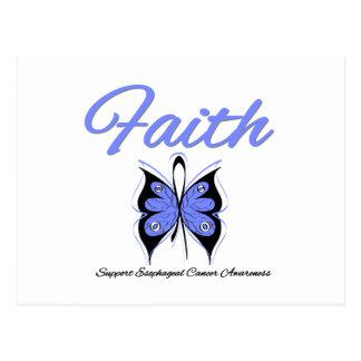 Esophageal Cancer Faith Butterfly Ribbon Post Card