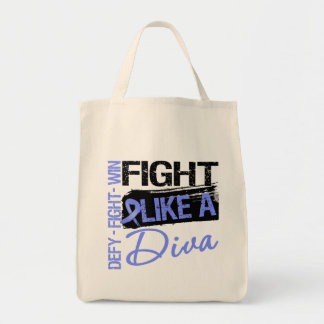 Esophageal Cancer - Fight Like a Diva Canvas Bags