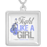 Esophageal Cancer  Fight Like a Girl Boxing Gloves Custom Necklace