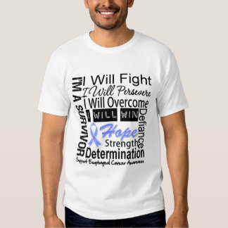 Esophageal Cancer Fight Persevere Overcome Win T-Shirt