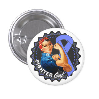Esophageal Cancer Fighter Gal 1 Inch Round Button