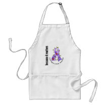 Esophageal Cancer Flower Ribbon 3 Adult Apron