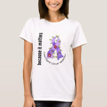 Esophageal Cancer Flower Ribbon 3 T-Shirt
