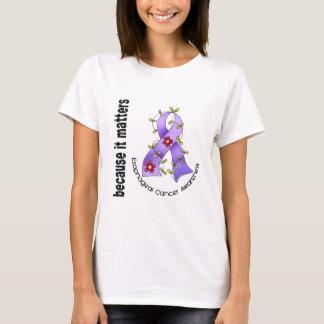 Esophageal Cancer Flower Ribbon 3 T-Shirt