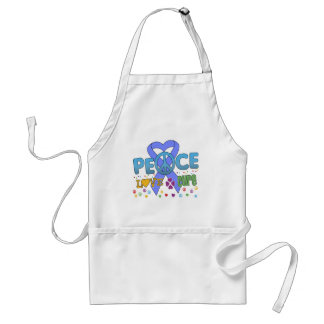 Esophageal Cancer Groovy Peace Love Cure Adult Apron