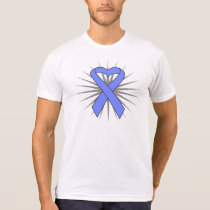 Esophageal Cancer Heart Ribbon T-shirts