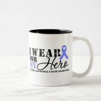 Esophageal Cancer Hero Ribbon Two-Tone Coffee Mug