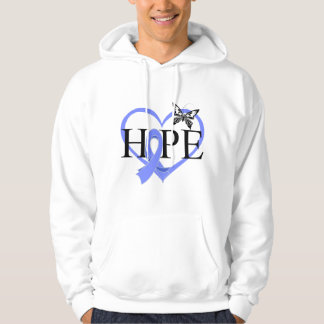 Esophageal Cancer Hope Butterfly Heart Décor Pullover