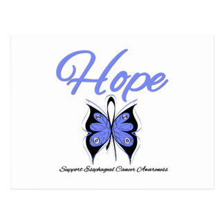 Esophageal Cancer Hope Butterfly Ribbon Post Cards