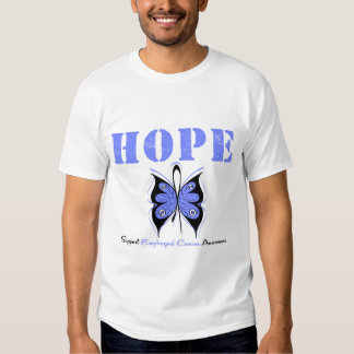 Esophageal Cancer Hope Butterfly T Shirt