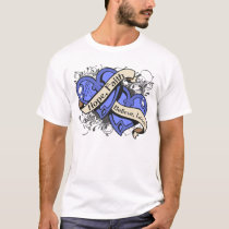 Esophageal Cancer Hope Faith Dual Hearts T-Shirt