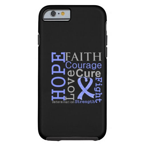 Esophageal Cancer Hope Faith Motto iPhone 6 Case