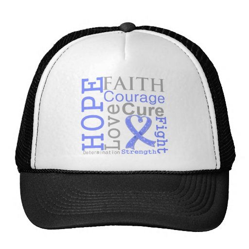 Esophageal Cancer Hope Faith Motto Mesh Hats