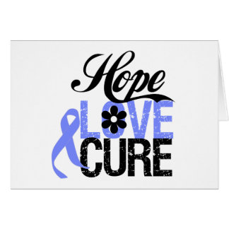 Esophageal Cancer HOPE LOVE CURE Gifts Greeting Card