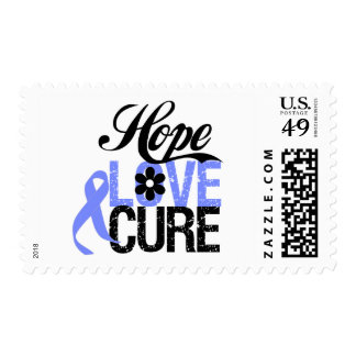 Esophageal Cancer HOPE LOVE CURE Gifts Postage Stamps