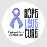 Esophageal Cancer Hope Love Cure Ribbon Stickers