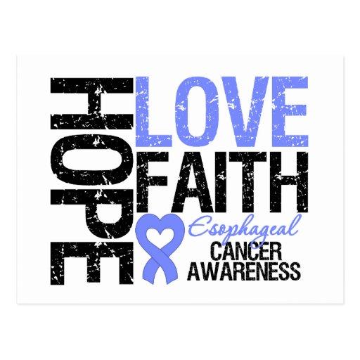 Esophageal Cancer Hope Love Faith Postcards