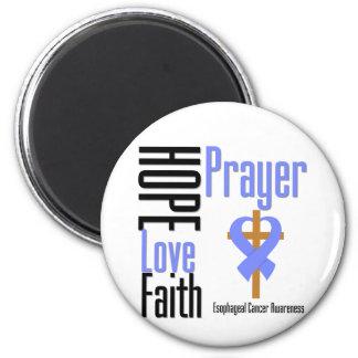 Esophageal Cancer Hope Love Faith Prayer Cross 2 Inch Round Magnet