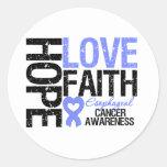 Esophageal Cancer Hope Love Faith Stickers