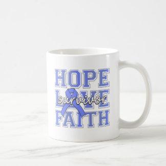 Esophageal Cancer Hope Love Faith Survivor Mug