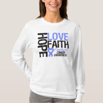 Esophageal Cancer Hope Love Faith T-Shirt