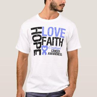 Esophageal Cancer Hope Love Faith T-Shirt